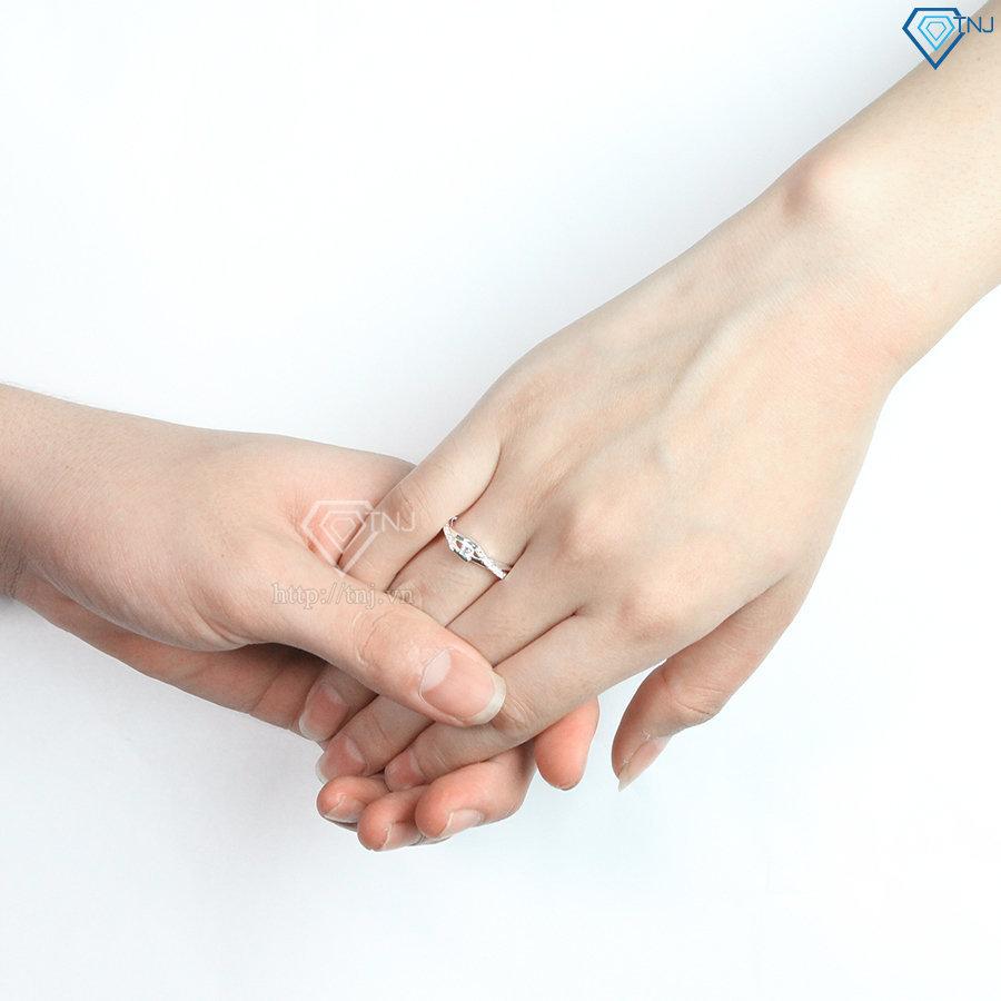 Nhẫn đôi bạc nhẫn cặp bạc đẹp ND0396