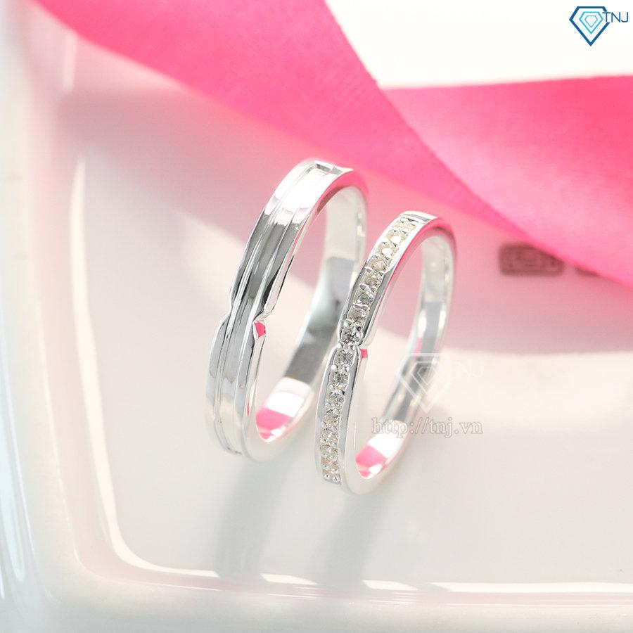 Nhẫn đôi bạc nhẫn cặp bạc đẹp ND0398