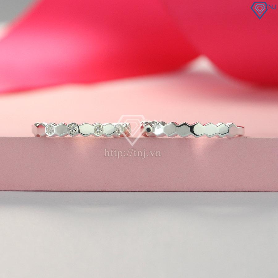 Nhẫn đôi bạc nhẫn cặp bạc đẹp đơn giản tinh tế ND0403
