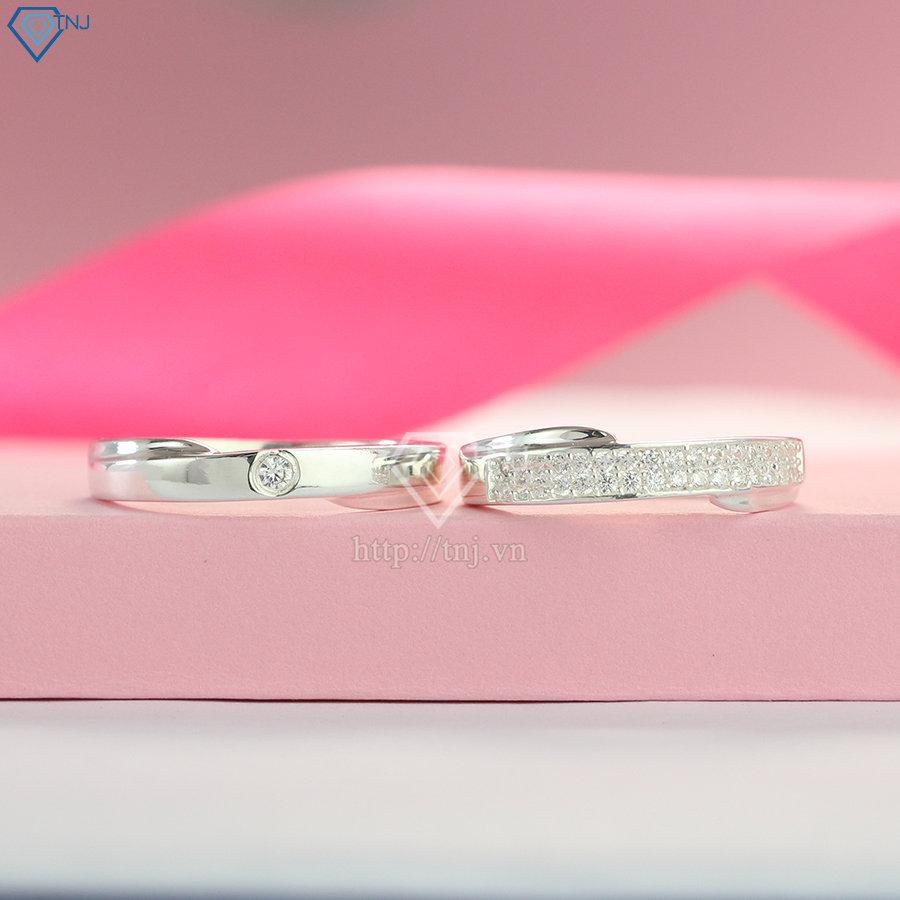Nhẫn đôi bạc nhẫn cặp bạc đẹp ND0405