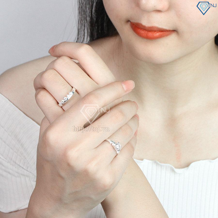 Nhẫn đôi bạc nhẫn cặp bạc đẹp cho đôi bạn thân ND0406