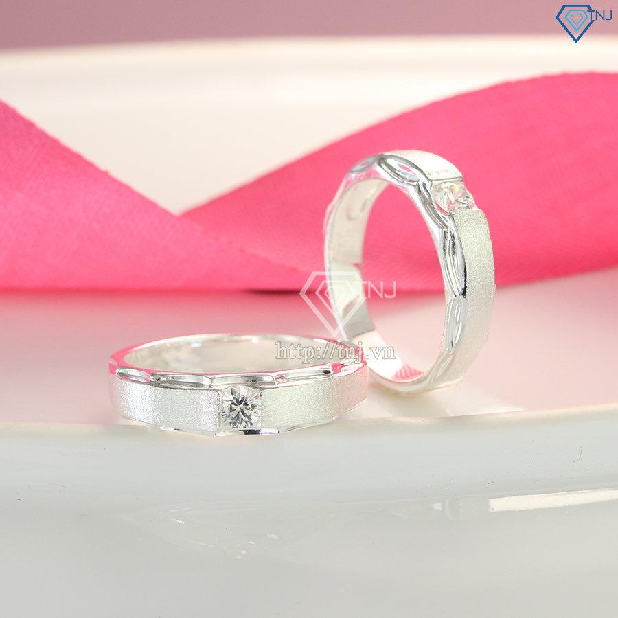 Nhẫn đôi bạc nhẫn cặp bạc đẹp ND0414