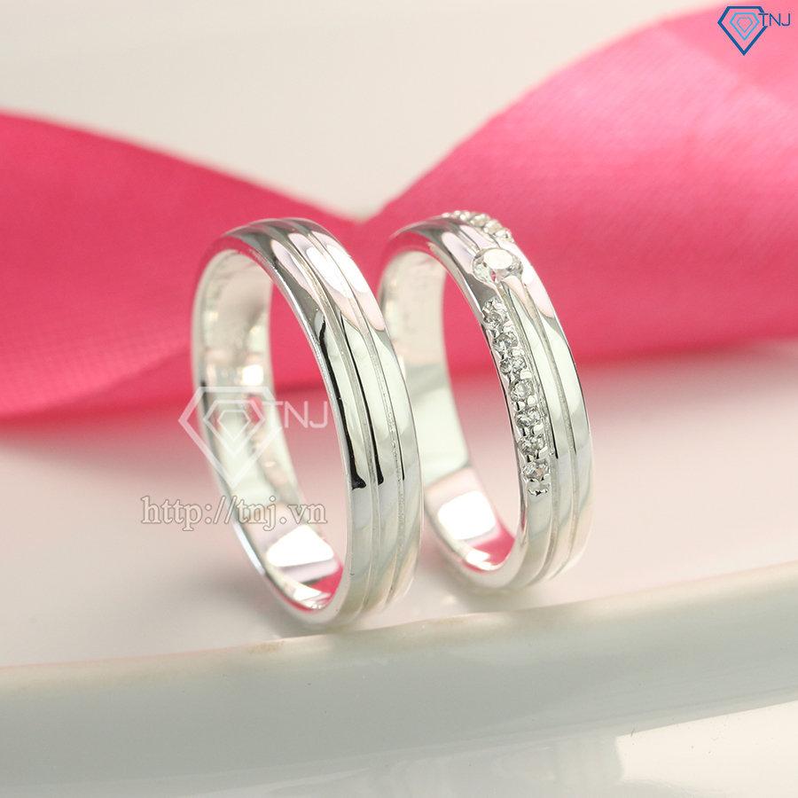 Nhẫn đôi bạc nhẫn cặp bạc đẹp ND0417