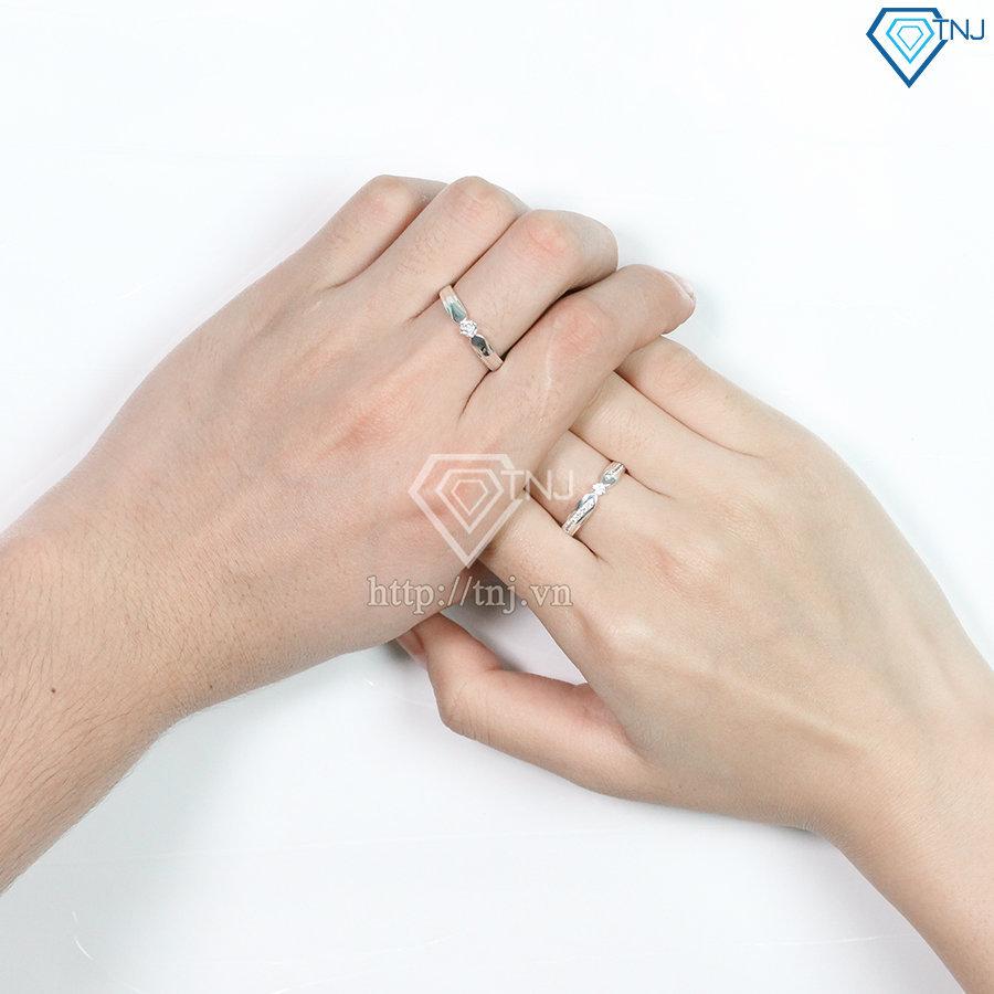 Nhẫn đôi bạc nhẫn cặp bạc khắc tên ND0424
