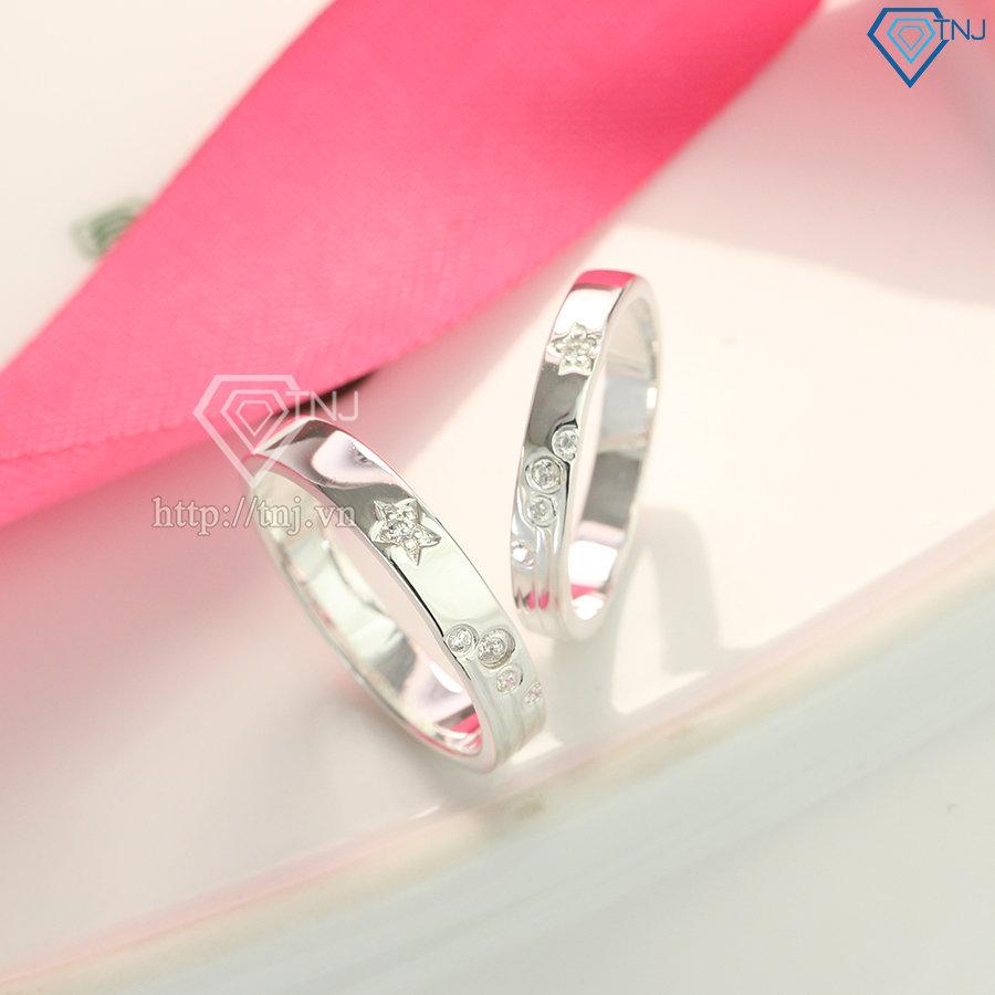 Nhẫn đôi bạc nhẫn cặp bạc đơn giản ND0425