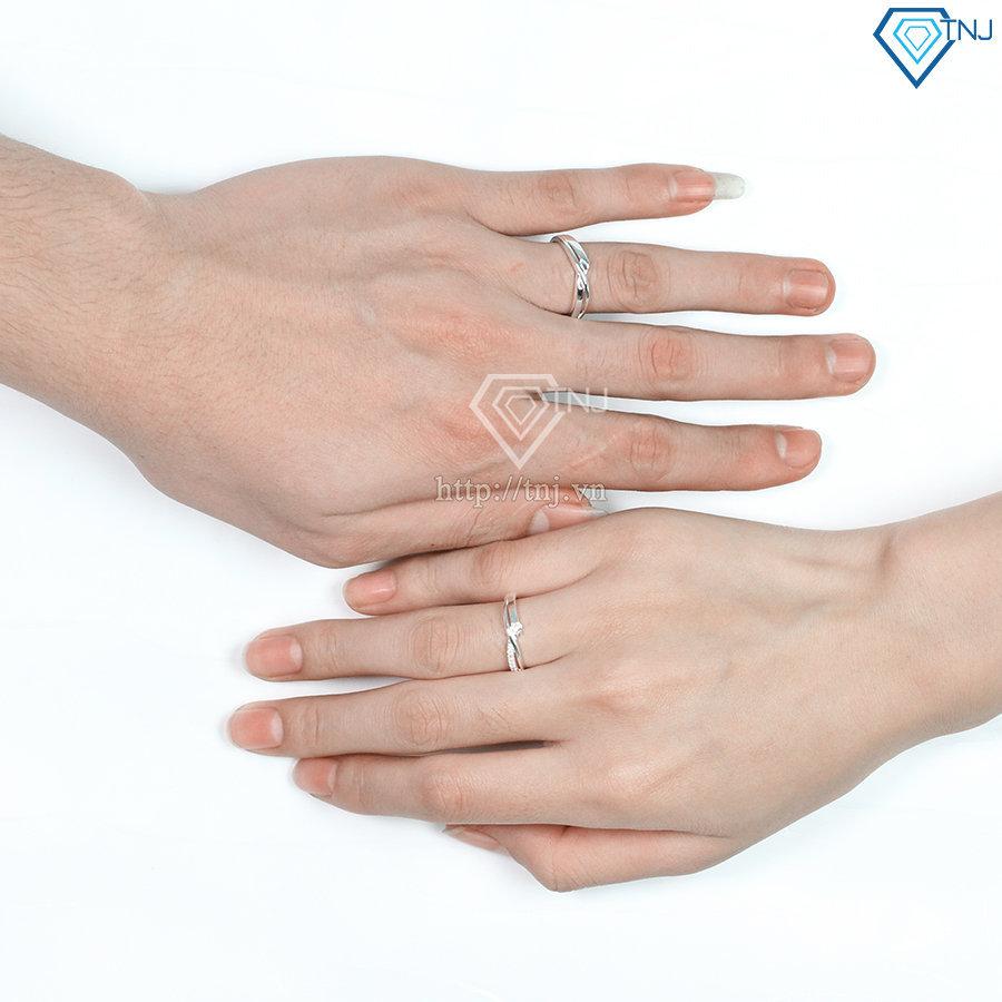 Nhẫn đôi bạc nhẫn cặp bạc hình vô cực ND0428