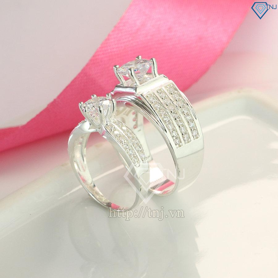 Nhẫn đôi bạc nhẫn cặp bạc cao cấp ND0433