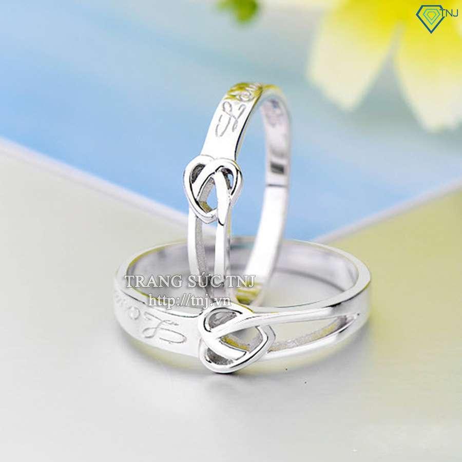 nhẫn đôi bạc nhẫn căp bạc đẹp ND0168