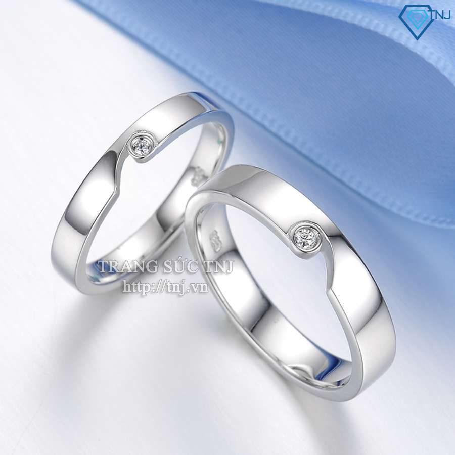 nhẫn đôi bạc nhẫn căp bạc đẹp ND0170