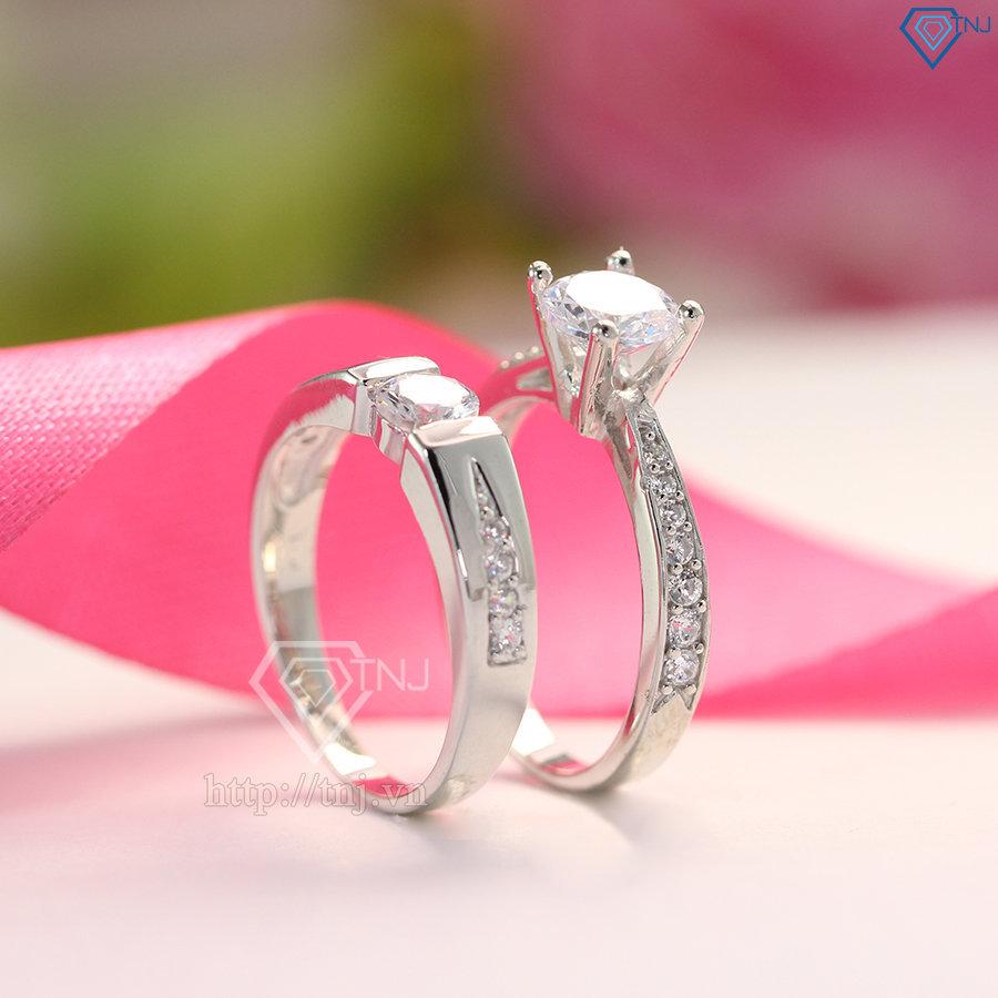 nhẫn đôi bạc nhẫn cặp bạc đẹp ND0045