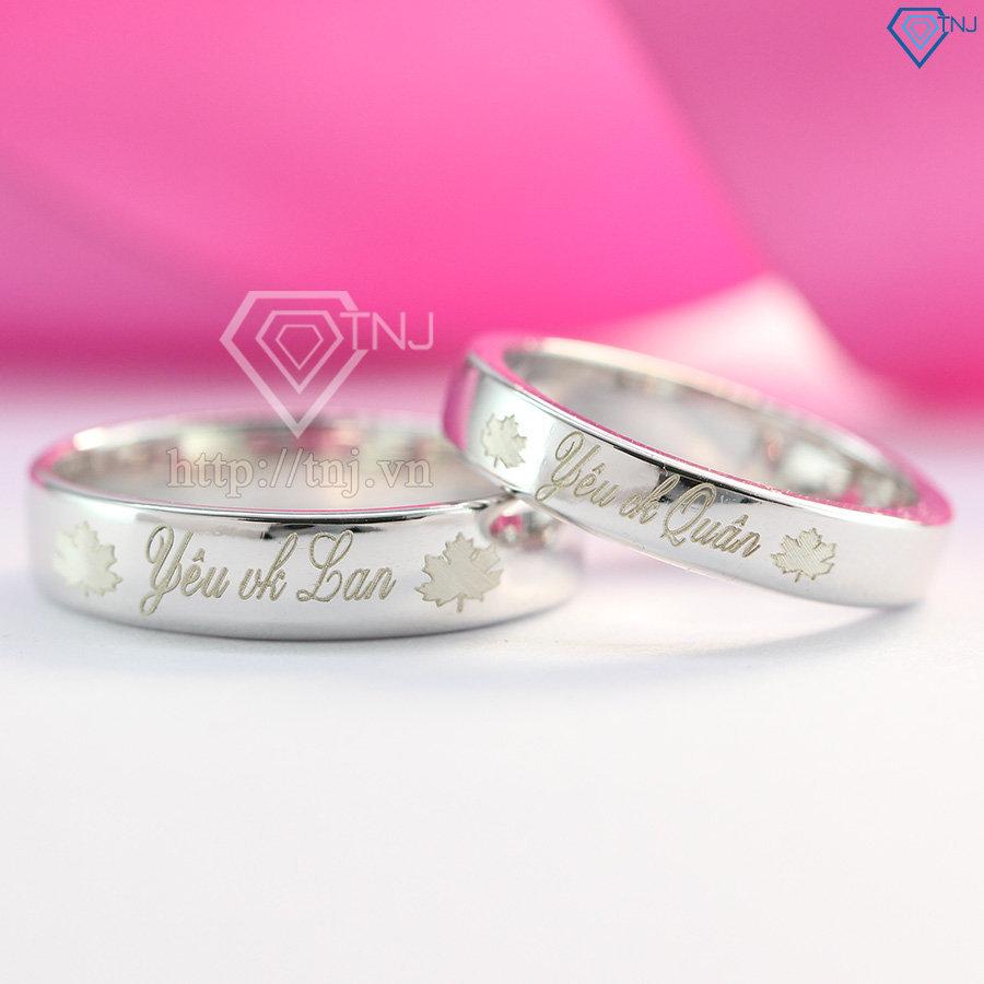 Nhẫn đôi khắc tên theo yêu cầu