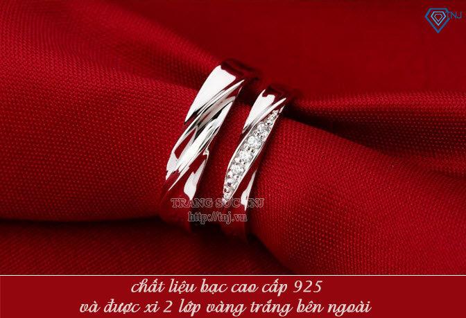 nhẫn đôi bạc nhẫn cặp bạc đẹp ND0092