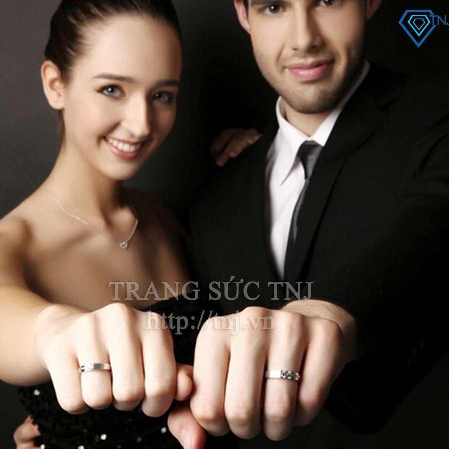 nhẫn đôi bạc nhẫn cặp bạc đẹp ND0109