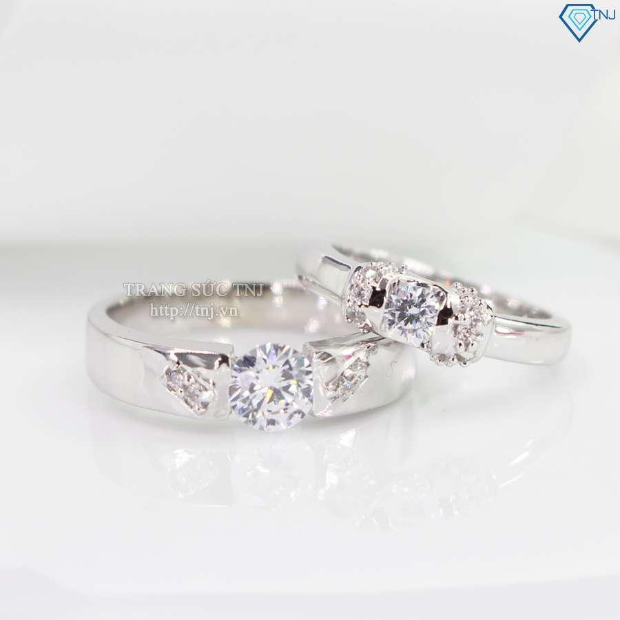 nhẫn đôi bạc nhẫn cặp bạc đẹp ND0112