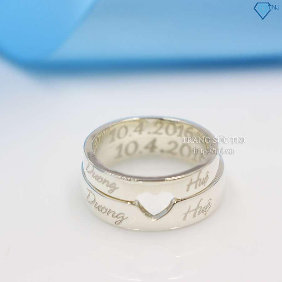 nhẫn đôi bạc nhẫn cặp bạc đẹp ND0126