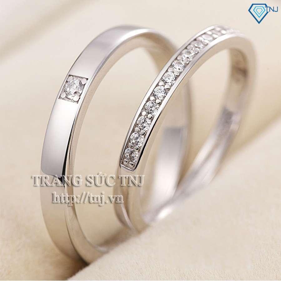 nhẫn đôi bạc nhẫn cặp bạc đẹp nd0135