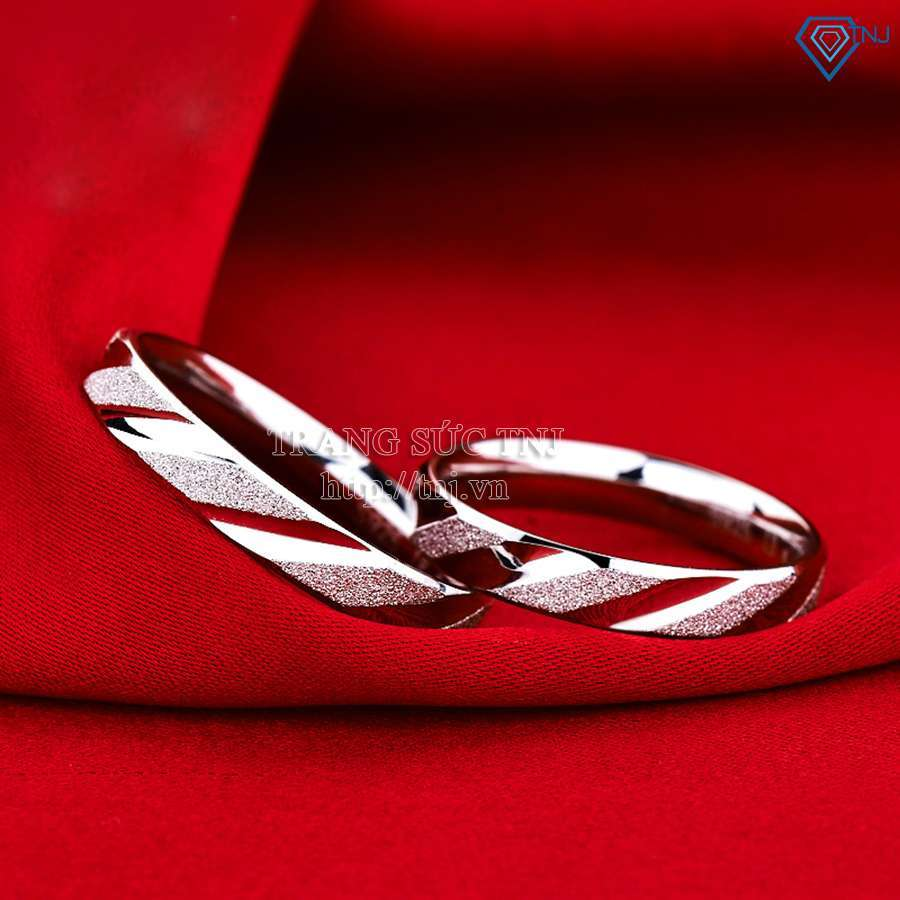 nhẫn đôi bạc nhẫn cặp bạc nd0142