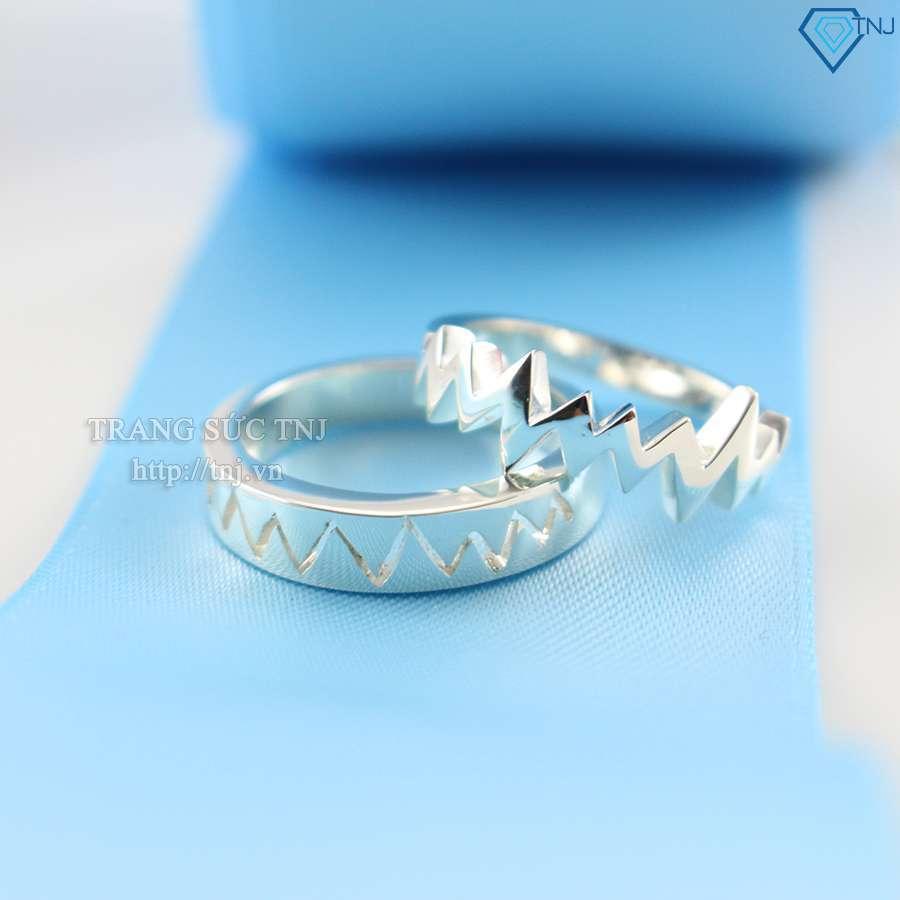 nhẫn đôi bạc nhẫn cặp bạc nd0145