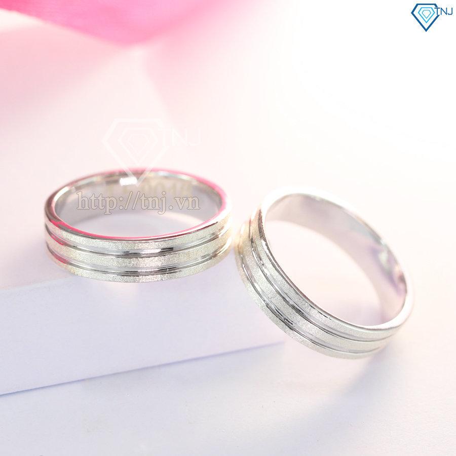 nhẫn đôi bạc nhẫn cặp bạc đẹp khắc tên ND0146