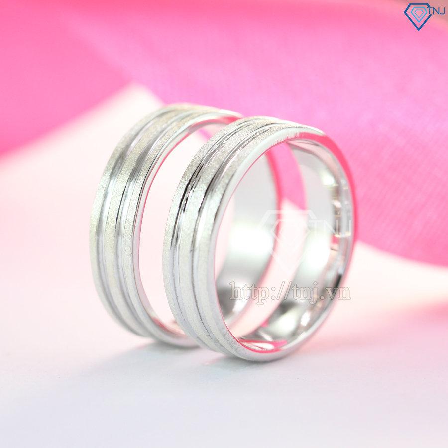 nhẫn đôi bạc nhẫn cặp bạc nd0146