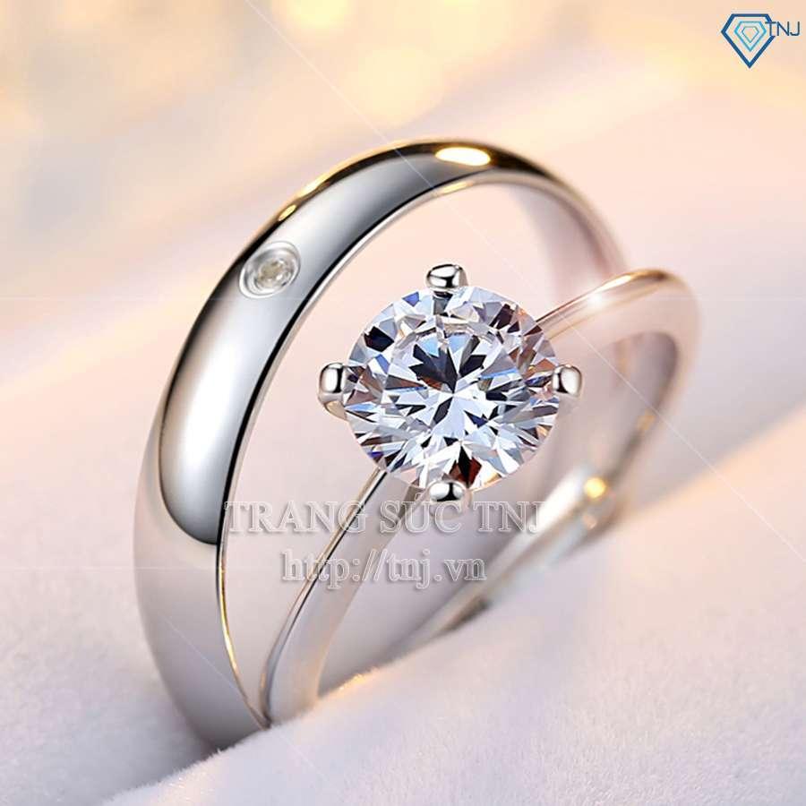 nhẫn đôi bạc nhẫn cặp bạc đẹp nd0147