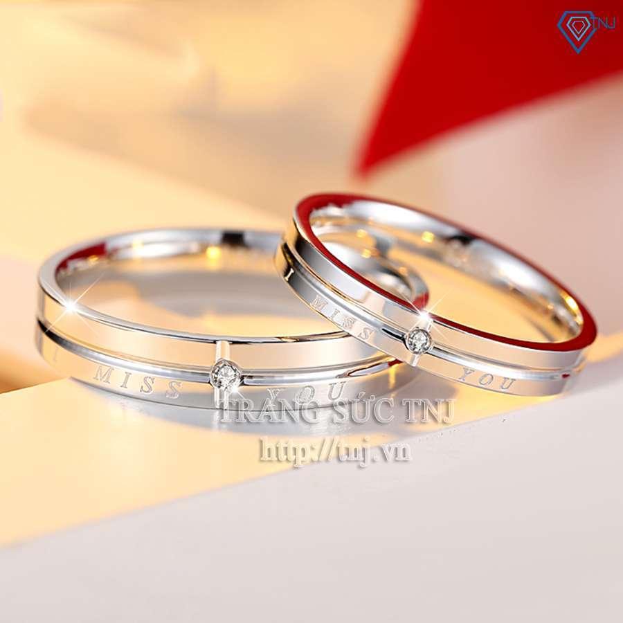 nhẫn đôi bạc nhẫn cặp bạc đẹp nd0148