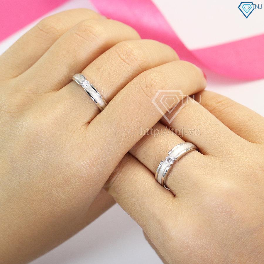 nhẫn đôi bạc nhẫn cặp bạc đẹp ND0149