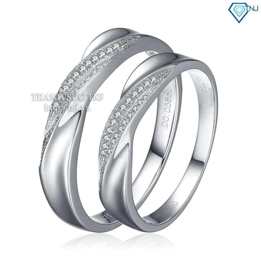 nhẫn đôi bạc nhẫn cặp bạc đẹp nd0150