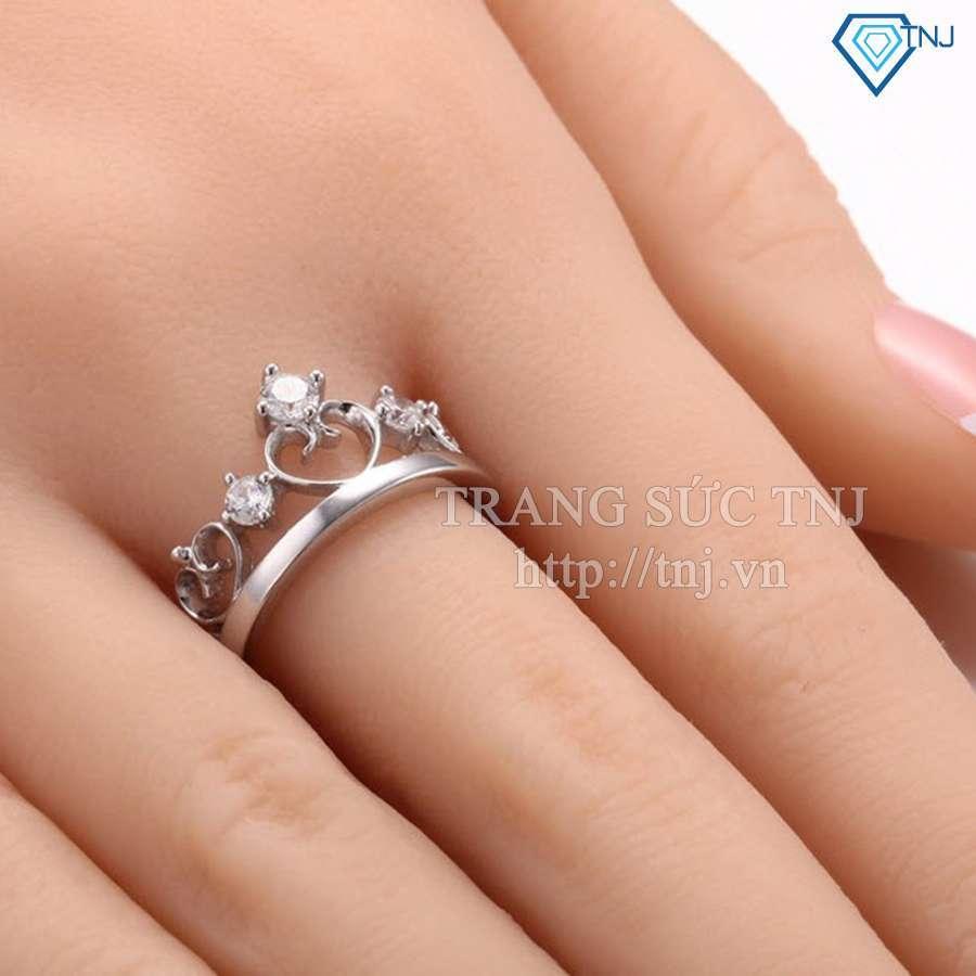 nhẫn đôi bạc nhẫn cặp bạc đẹp nd0155