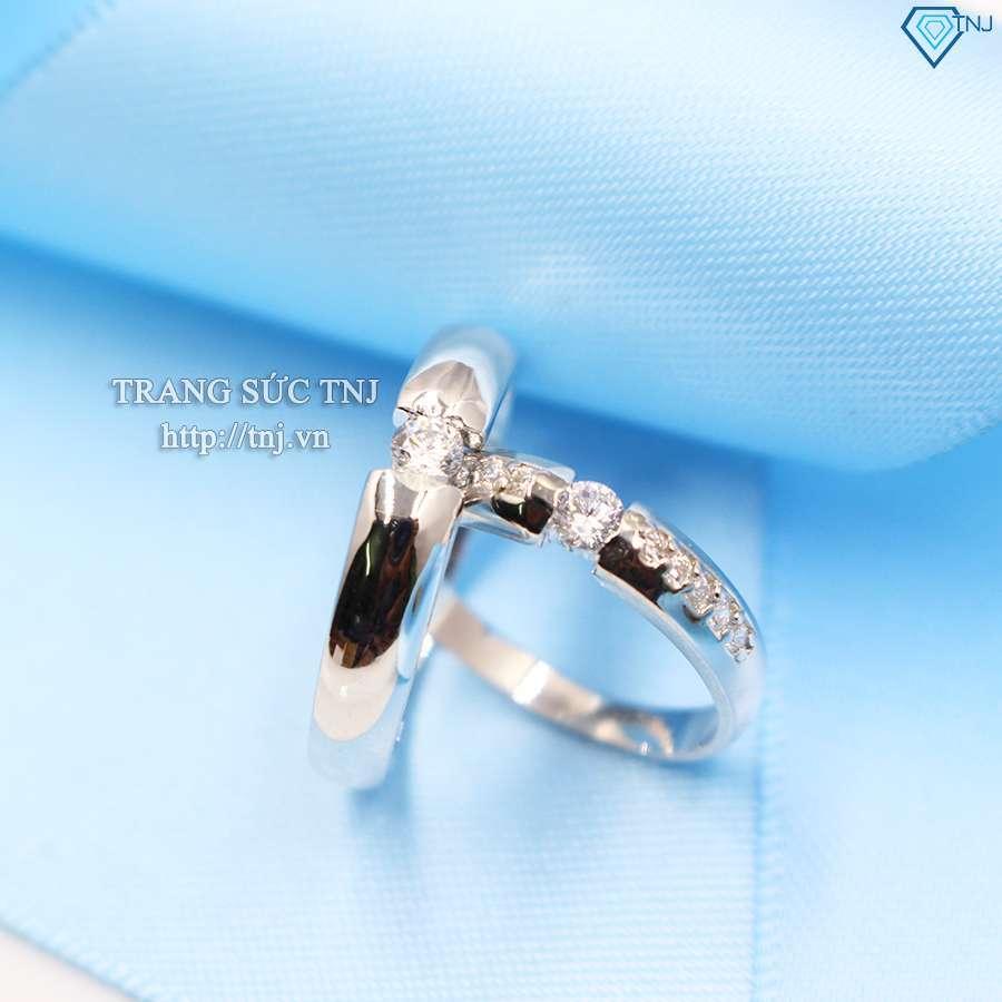 nhẫn đôi bạc nhẫn cặp bạc đẹp nd0157