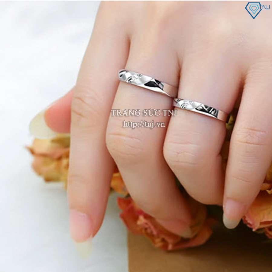 nhẫn đôi bạc nhẫn cặp bạc đẹp nd0159