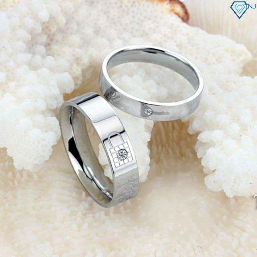 nhẫn đôi bạc nhẫn cặp bạc đẹp nd0162