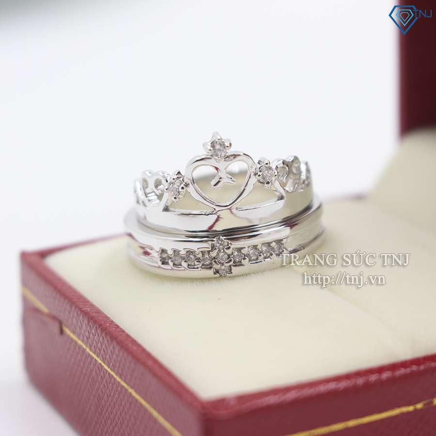 nhẫn đôi bạc nhẫn cặp bạc đẹp nd0167