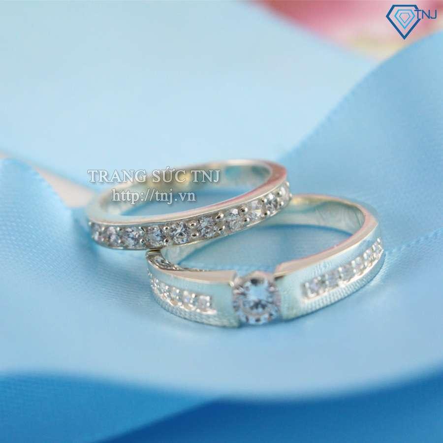 nhẫn đôi bạc nhẫn cặp bạc đẹp nd0178