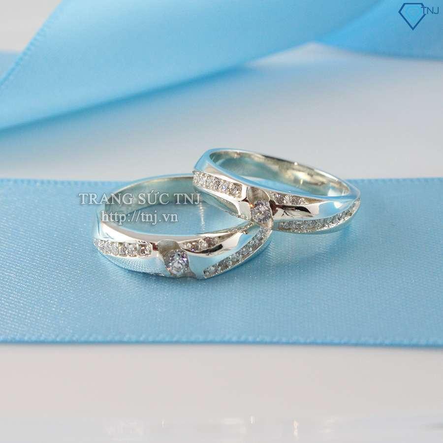 nhẫn đôi bạc nhẫn cặp bạc đẹp nd0180