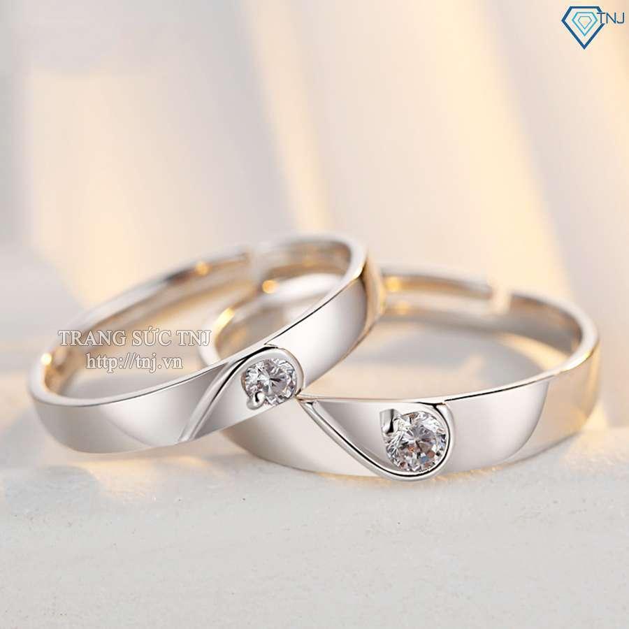 nhẫn đôi bạc nhẫn cặp bạc đẹp ND0187