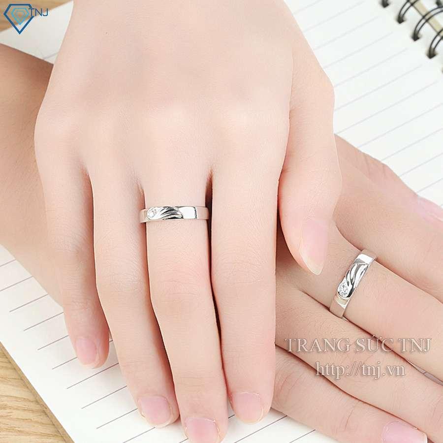 nhẫn đôi bạc nhẫn cặp bạc đẹp ND0188
