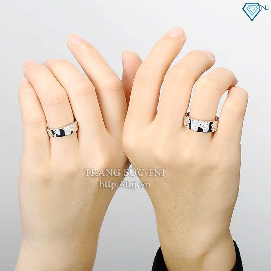 nhẫn đôi bạc nhẫn cặp bạc đẹp ND0189