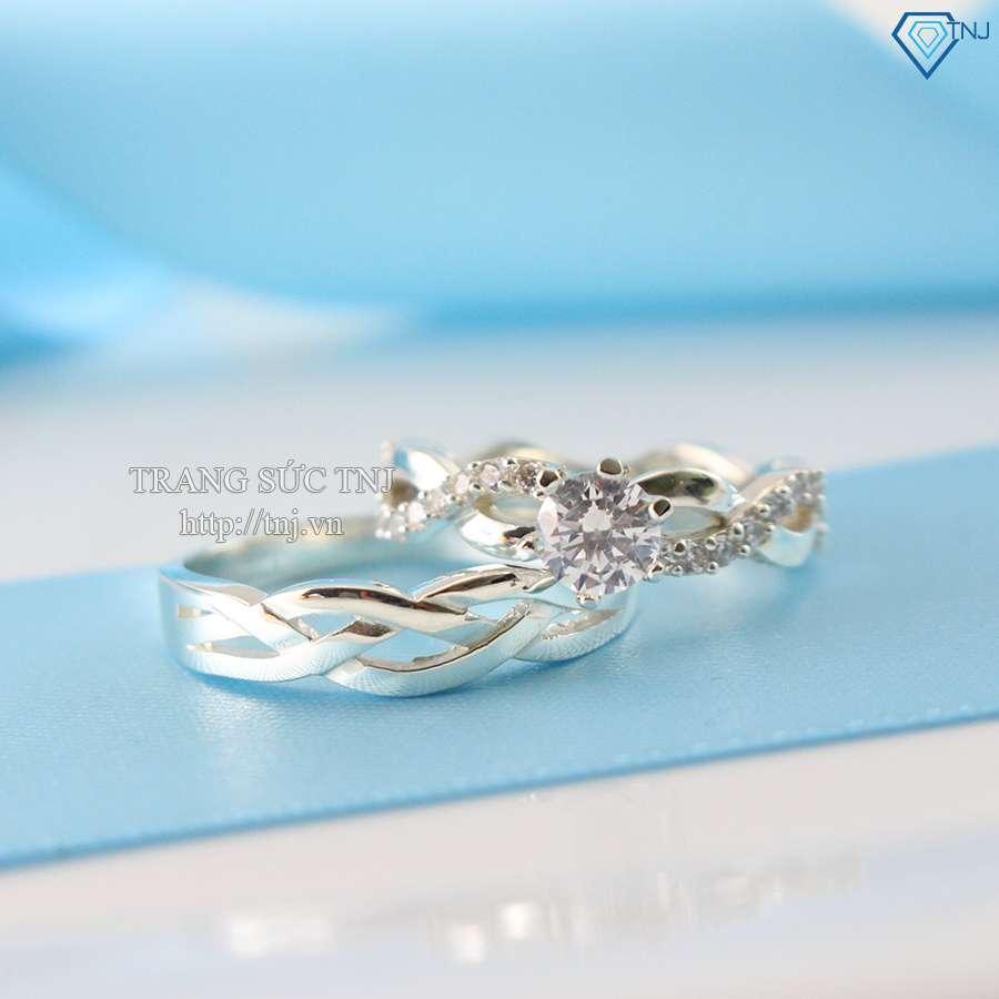 nhẫn đôi bạc nhẫn cặp bạc đẹp ND0191
