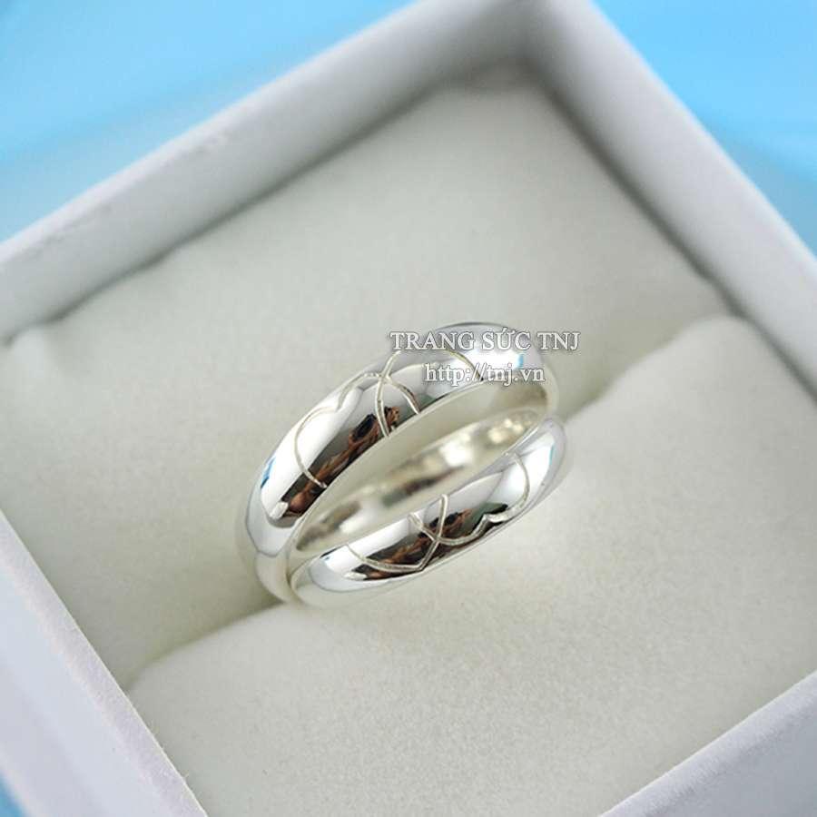 nhẫn đôi bạc nhẫn cặp bặc đẹp nd0193