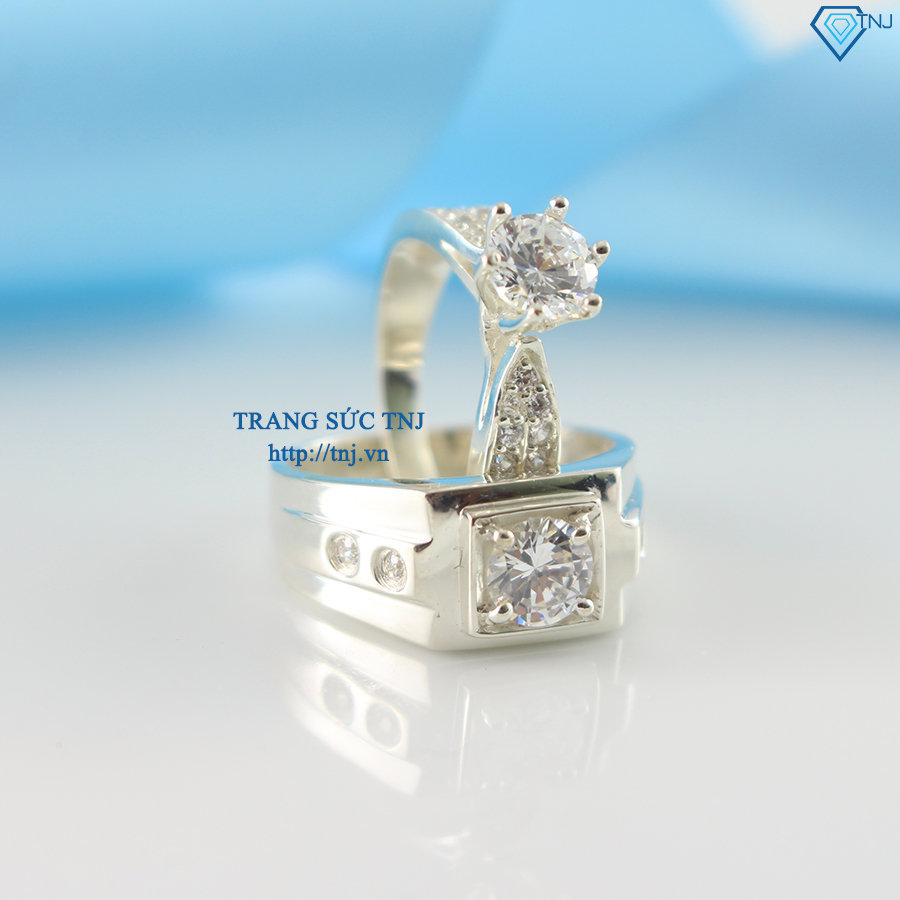 Nhẫn đôi bạc nhẫn cặp bạc đẹp ND0220