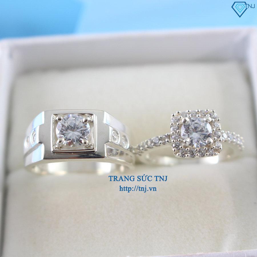 Nhẫn đôi bạc nhẫn cặp bạc đẹp ND0221