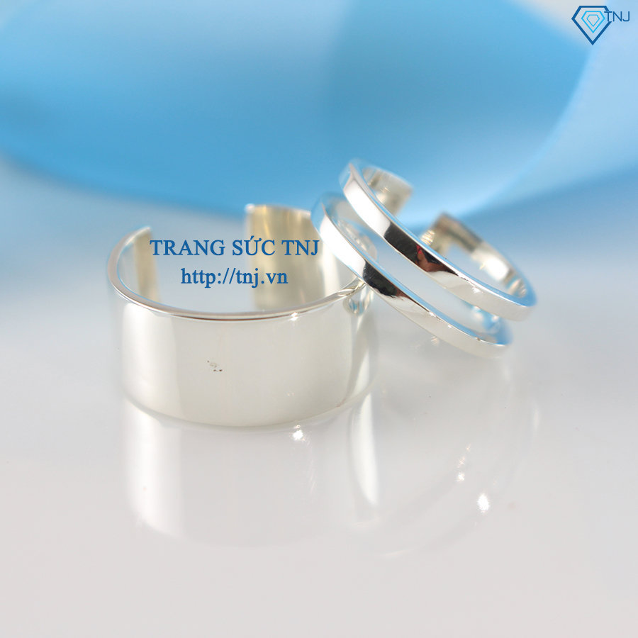 Nhẫn đôi bạc nhẫn cặp bạc đẹp ND0222