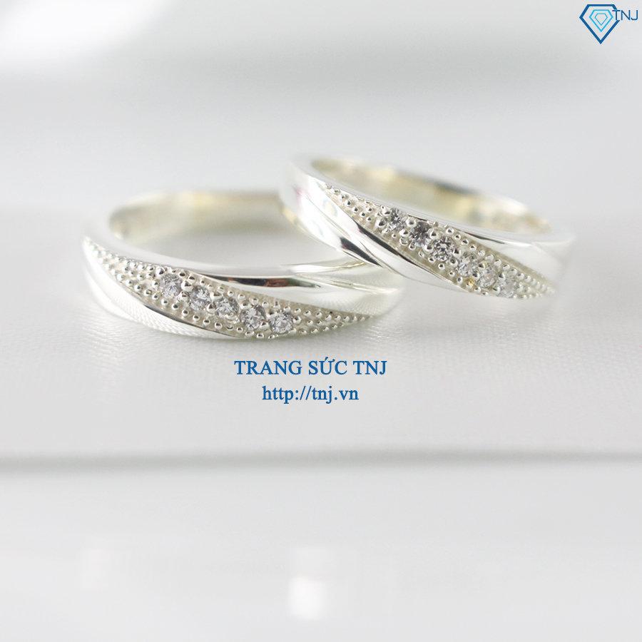 Nhẫn đôi bạc nhẫn cặp bạc đẹp ND0223