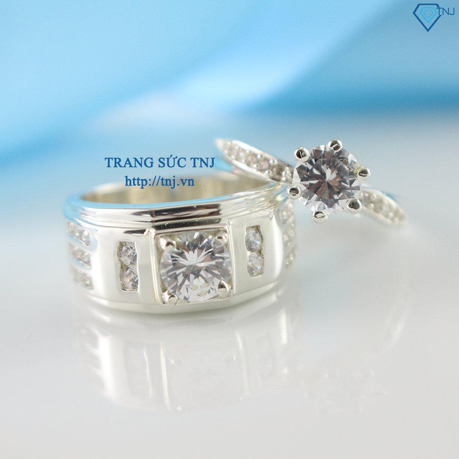 Nhẫn đôi bạc nhẫn cặp bạc đẹp ND0224