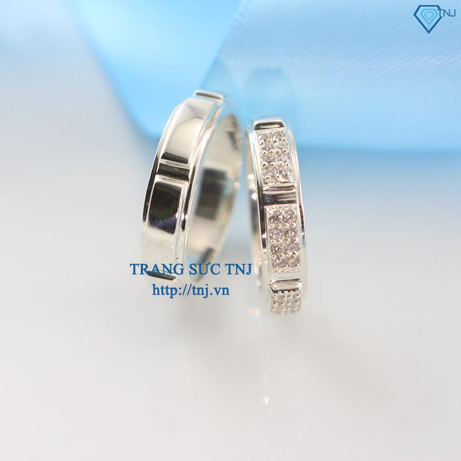 Nhẫn đôi bạc nhẫn cặp bạc đẹp ND0227