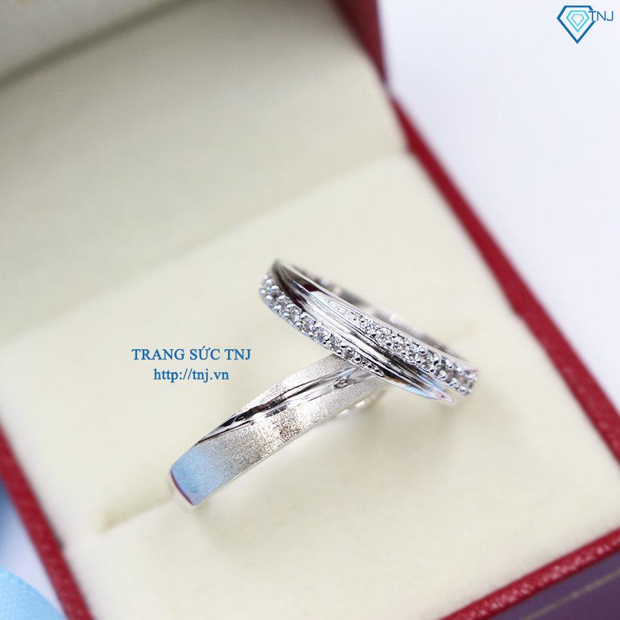nhẫn đôi bạc nhẫn cặp bạc đẹp ND0234
