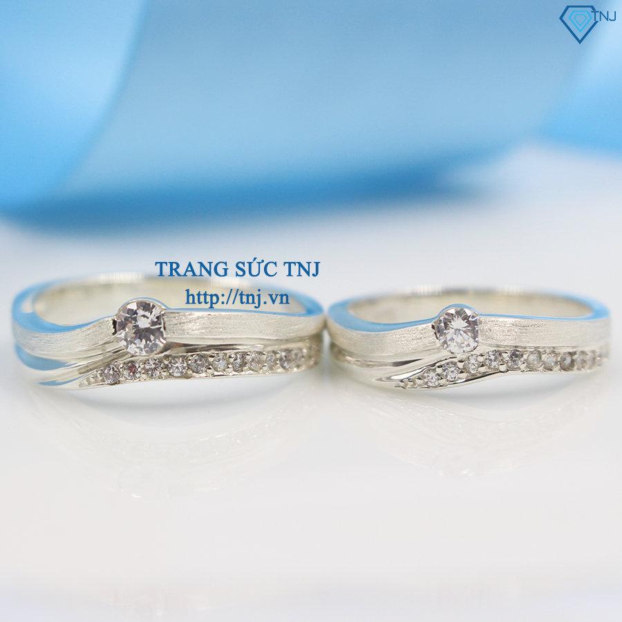 Nhẫn đôi bạc nhẫn cặp bạc đẹp ND0236