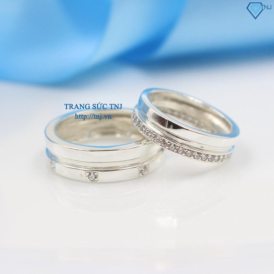 Nhẫn đôi bạc nhẫn cặp bạc đẹp ND0237
