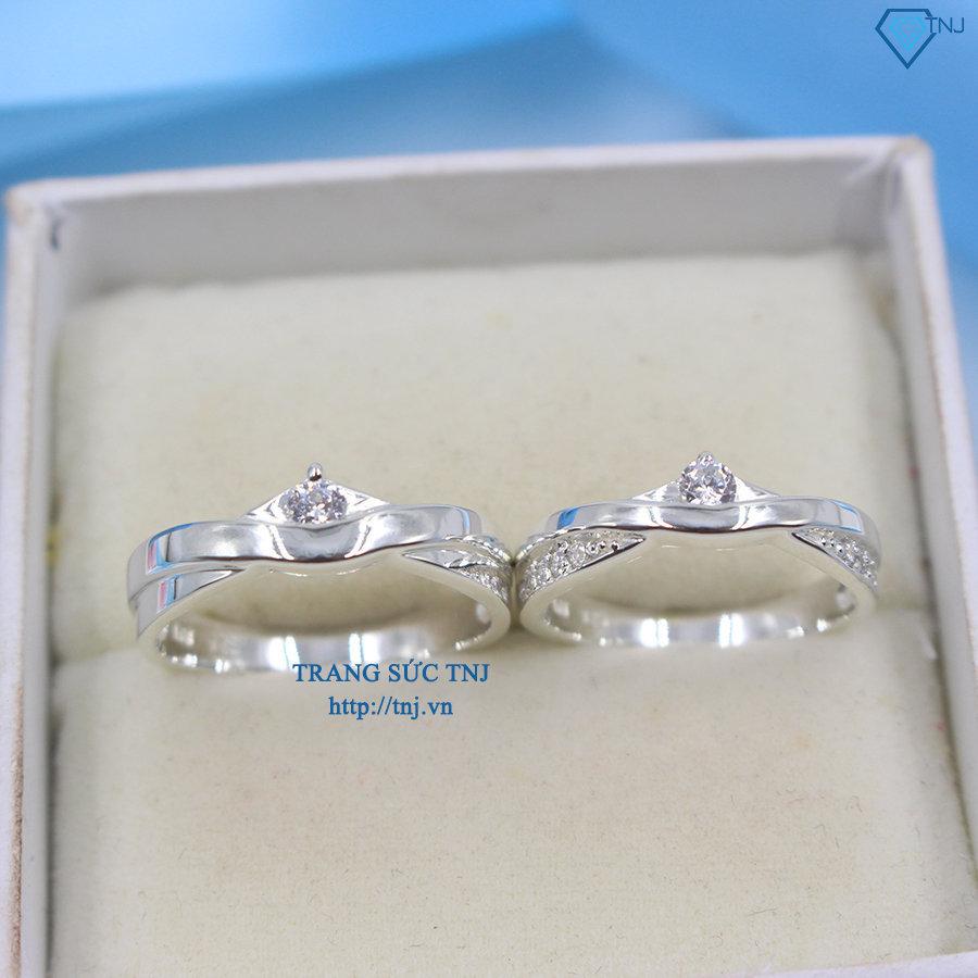 Nhẫn đôi bạc nhẫn cặp bạc đẹp ND0239